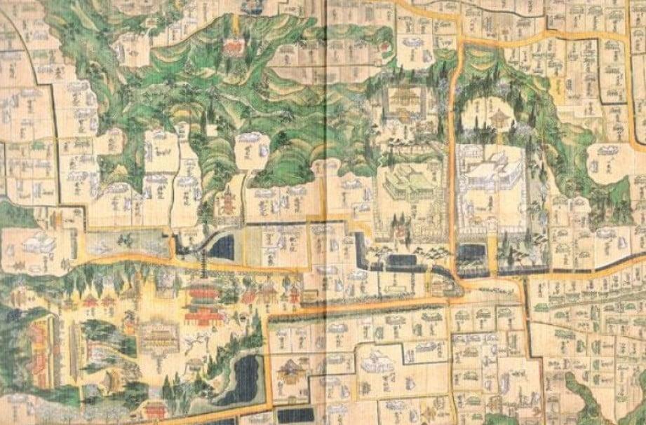 「金剛峯寺の御朱印帳(古地図)」