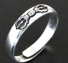 高野山開創1200年記念【純銀製厄除け三鈷杵】指輪御守り