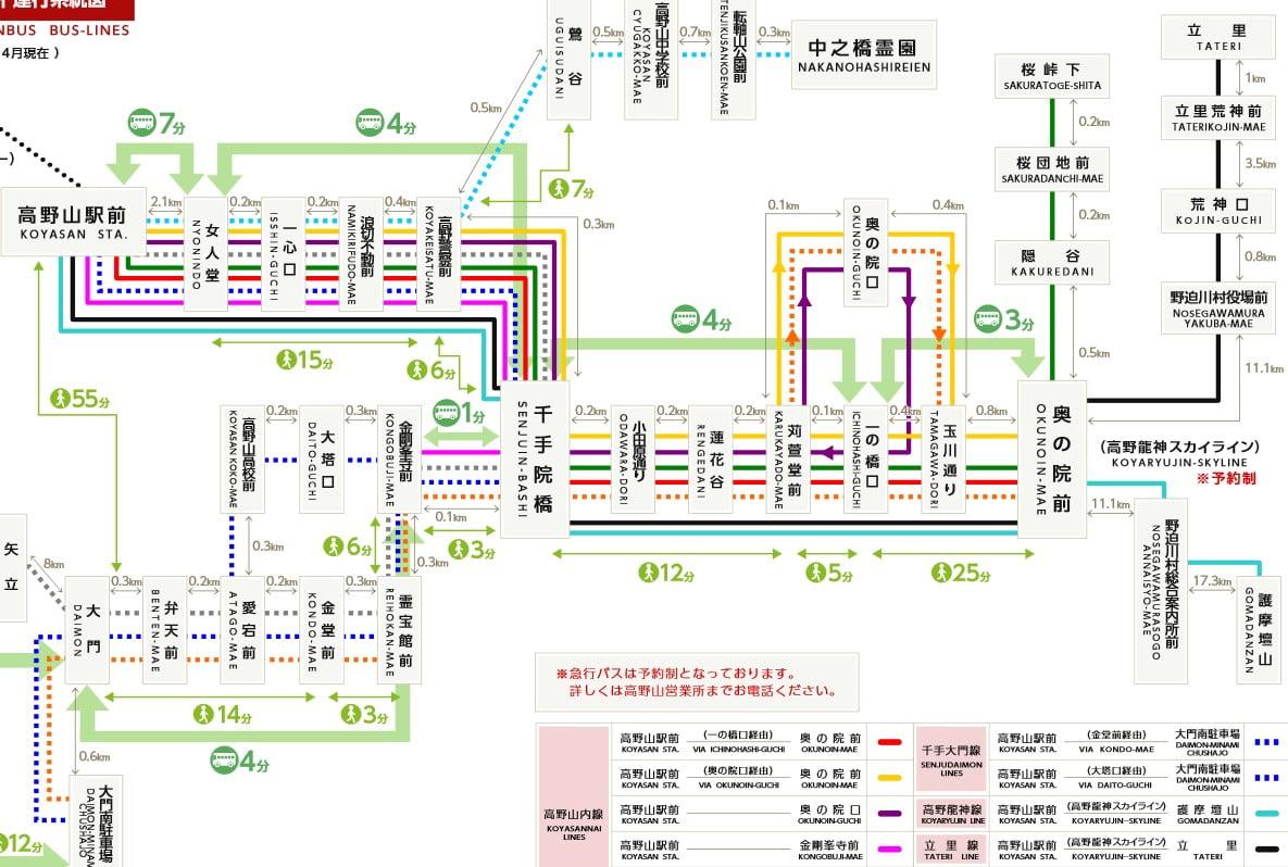 高野山駅から高野山内(金剛峯寺・奥の院など)へのアクセス・行き方(南海りんかいバス) (3)