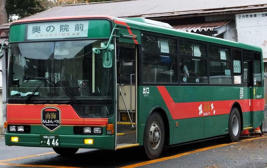 高野山内でのバス(南海バス)の運行情報