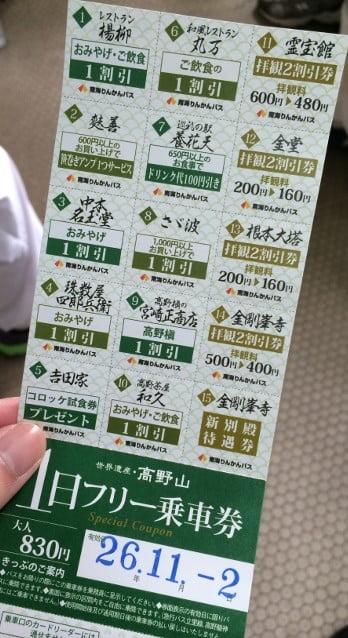 高野山内では「1日フリー乗車バス券」を活用する
